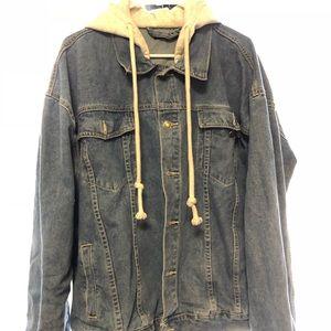 Denim jacket hoodie Vetements